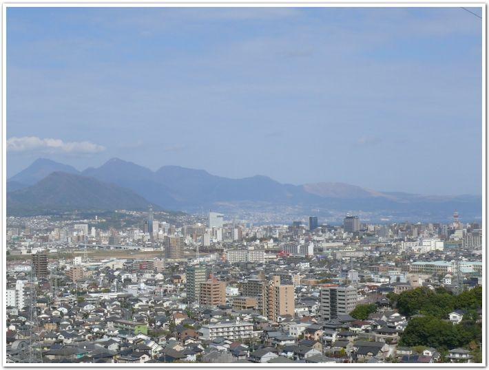 大分市の一部を見渡せる景色