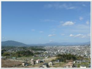 大分市明野から見た挾間方向の景色