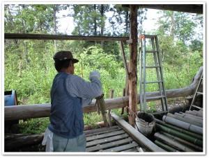 4本に竹を割るための知恵